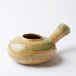 焙烙(ほうろく)薄茶×緑はけ目