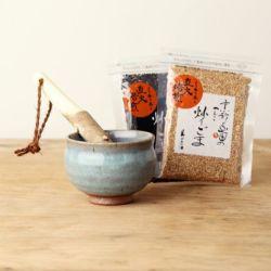 すり鉢セット「青ナマコ(3.5寸)」