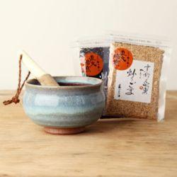 すり鉢セット「青ナマコ(4寸)」